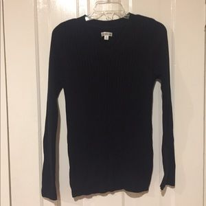 Croft & Barrow Black Sweater with Buttons